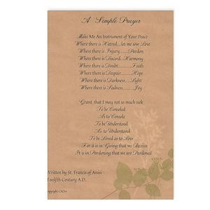 st francis prayer postcards cafepress