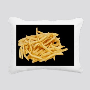 french fries large butto Rectangular Canvas Pillow