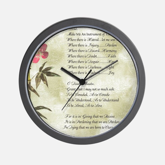 Pope Francis St. Francis SIMPLE PRAYER- Wall Clock