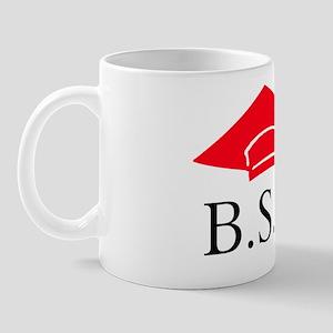 Red BSW Grad Cap Mug
