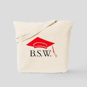 Red BSW Grad Cap Tote Bag