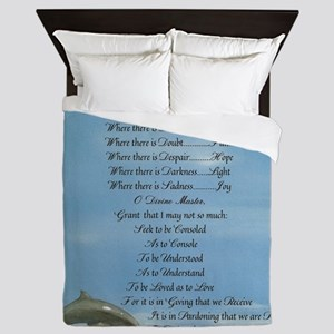 Pope Francis St. Francis SIMPLE PRAYER Queen Duvet