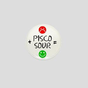 Plus Pisco Sour Equals Happy Mini Button
