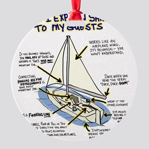 Sailboat_guest Round Ornament
