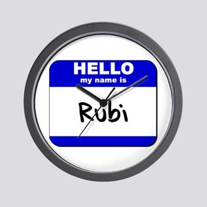 hello my name is rubi  Wall Clock