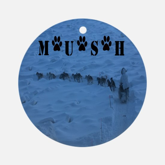 MUSH Messenger Bag Round Ornament