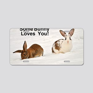Some Bunny Loves You!  Cat  Aluminum License Plate