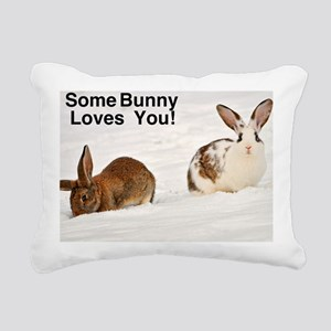 Some Bunny Loves You!  C Rectangular Canvas Pillow
