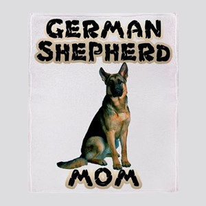 German Shepherd Mom Throw Blanket