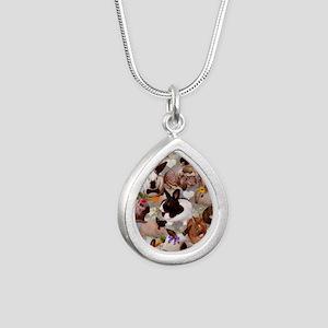 Happy Bunnies Silver Teardrop Necklace