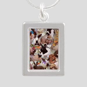 Happy Bunnies Silver Portrait Necklace