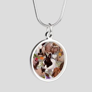 Happy Bunnies Silver Round Necklace