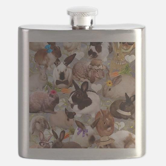 Happy Bunnies Flask