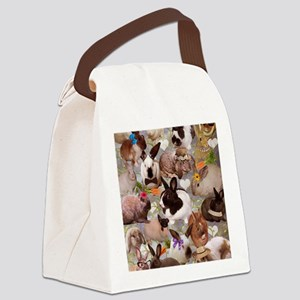 Happy Bunnies Canvas Lunch Bag