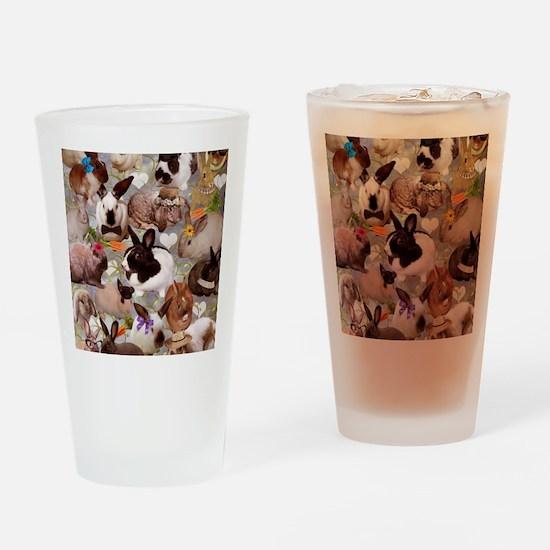 Happy Bunnies Drinking Glass