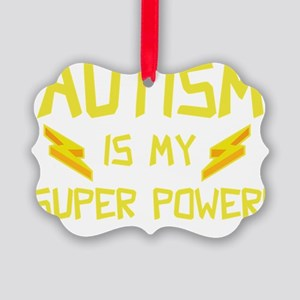 autismSuperP2F Picture Ornament