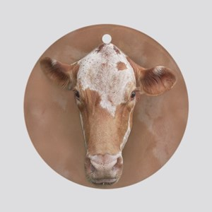 Holy Cow! Round Ornament