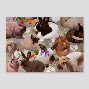 Happy Bunnies 5'x7'Area Rug