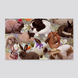 Happy Bunnies 3'x5' Area Rug