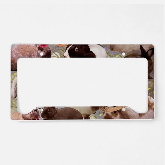 Happy Bunnies License Plate Holder