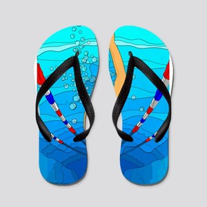 Woman swimming Flip Flops