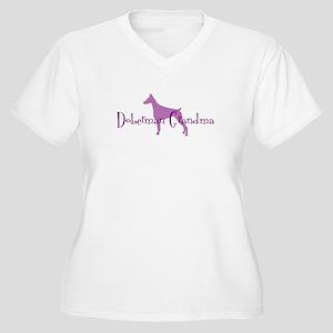 Doberman Grandma Women's Plus Size V-Neck T-Shirt