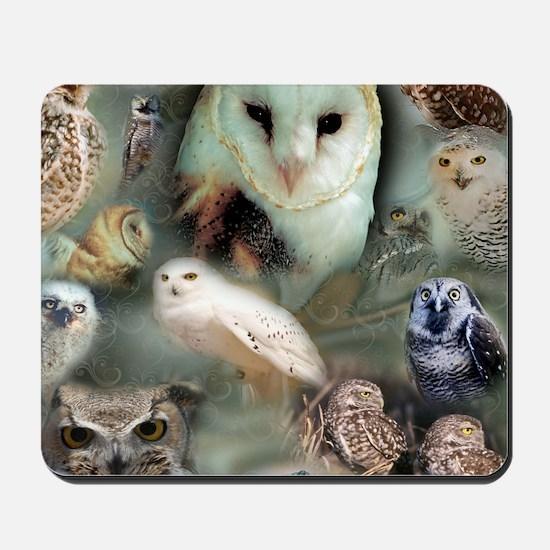 Happy Owls Mousepad