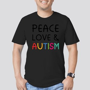 peaceLoveAutism2A Men's Fitted T-Shirt (dark)