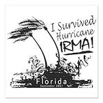 I Survived Hurricane Irma Square Car Magnet 3