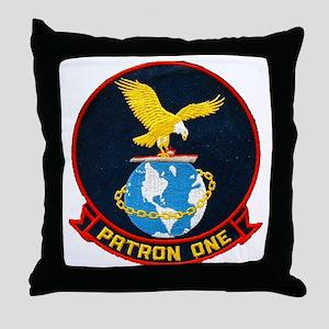 vp-1 patch Throw Pillow