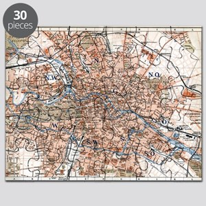 Old Berlin Map Puzzles CafePress - Vintage map berlin