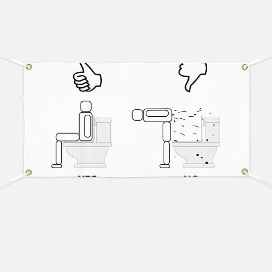 Proper Toilet Usage Banner
