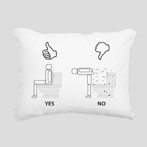 Proper Toilet Usage Rectangular Canvas Pillow