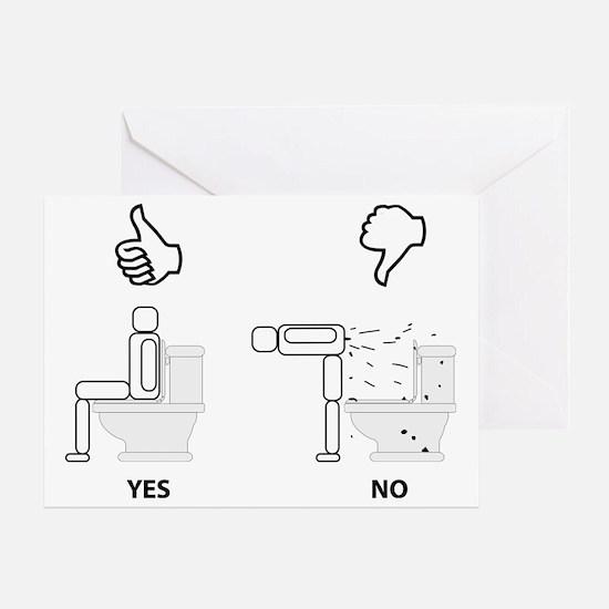 Proper Toilet Usage Greeting Card