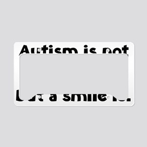 autismSmileIs1A License Plate Holder