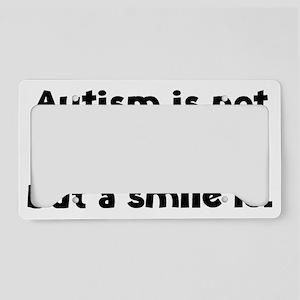 autismSmileIs1A License Plate Holder