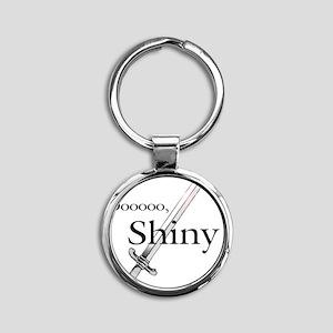 Oooo, Shiny Round Keychain