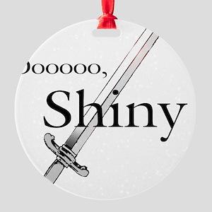 Oooo, Shiny Round Ornament