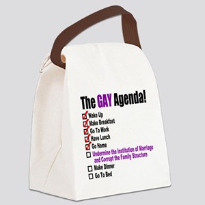 Gay Agenda Marriage Canvas Lunch Bag
