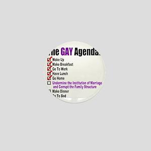 Gay Agenda Marriage Mini Button