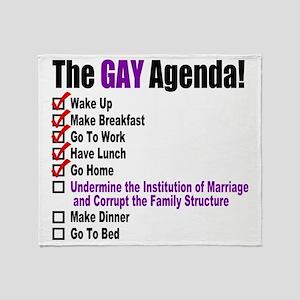Gay Agenda Marriage Throw Blanket