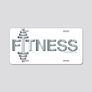 FITNESS -- Fit Metal Design Aluminum License Plate