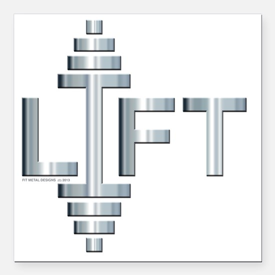 "LIFT -- Fit Metal Design Square Car Magnet 3"" x 3"""