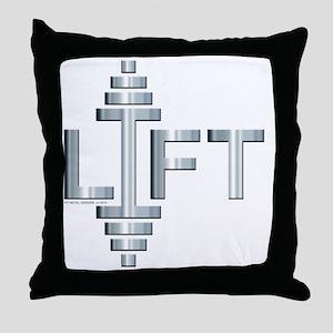 LIFT -- Fit Metal Designs Throw Pillow