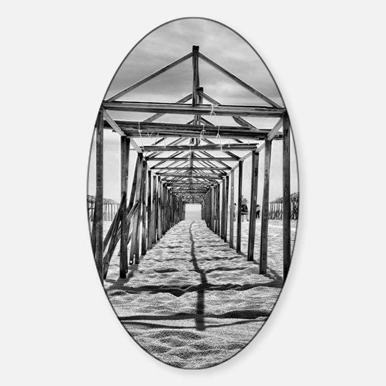 Povoa de Varzim beach in Portugal Sticker (Oval)