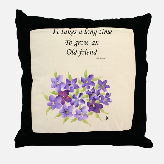 Poetry of an Old Friend Throw Pillow
