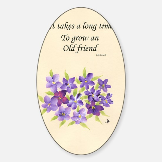 Poetry of an Old Friend Sticker (Oval)