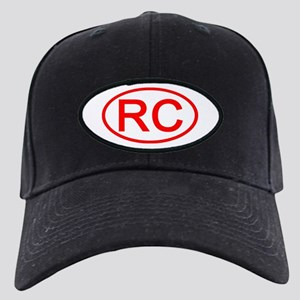 RC Oval (Red) Black Cap