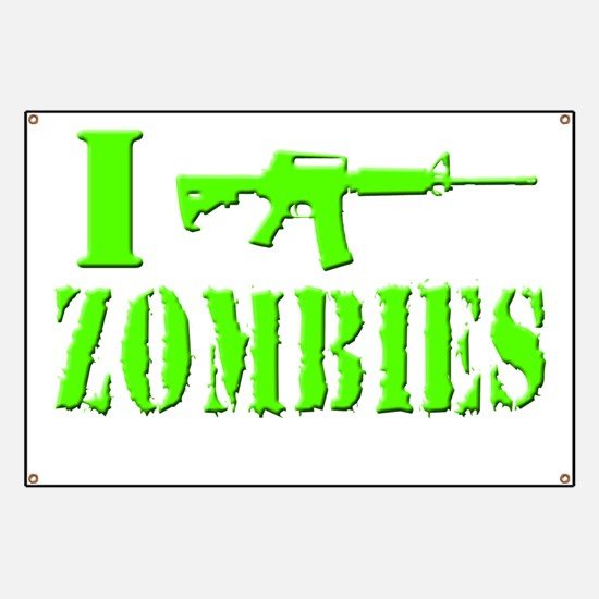 I Shoot Zombies Banner