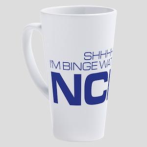 Shhhh I'm Binge Watching NCIS 17 oz Latte Mug